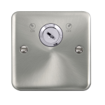 Click Deco Plus Satin Chrome 20A DP Key Lockable Switch DPSC660
