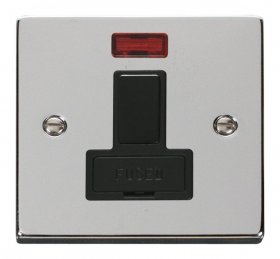 Click Deco Polished Chrome Switched Fused Spur + Neon VPCH652BK