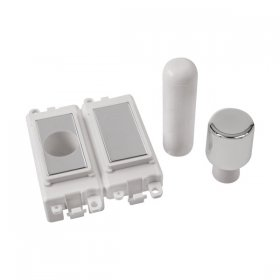 Click Grid Pro GM150PW 2 Module Dimmer Mounting Kit White