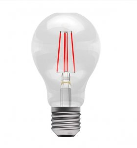Bell 4W ES LED Red Filament GLS Lamp ­60066