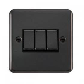 Click Deco Plus 3 Gang 2 Way Ingot Switch DPBN413BK