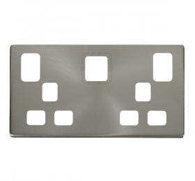 Click Definity Type A & C USB Double Socket Cover Plate SCP486BS