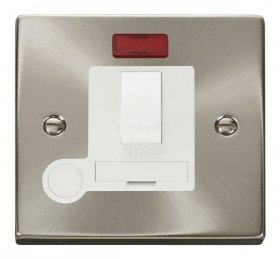 Click Deco Satin Chrome Switched Fused Spur Neon + F/O VPSC052WH