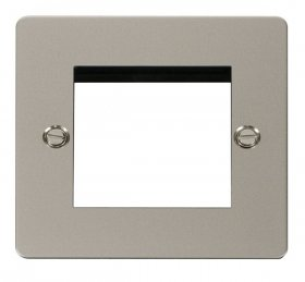Click Define Pearl Nickel New Media Twin Aperture Plate FPPN311