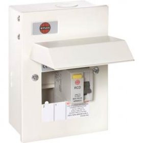 Wylex NMRS206/63 Metal 2 Way Consumer Unit With 63A 30mA RCD