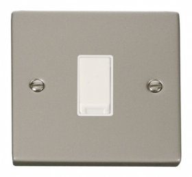 Click Deco Pearl Nickel 1 Gang 2 Way Switch VPPN011WH