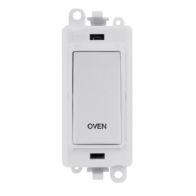 Click Grid Pro GM2018PW-OV Double Pole Switch Module White Oven