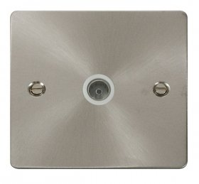 Click Define Brushed Steel Non-Isolated Coaxial Socket FPBS065WH