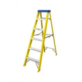 Elex Electricians Fibre Glass 6 Tread Step Ladder