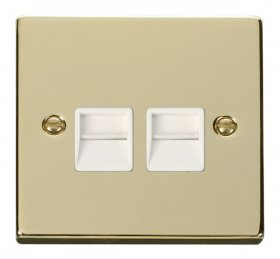 Click Deco Polished Brass Secondary Telephone Point VPBR126WH