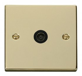 Click Deco Polished Brass Non-Isolated Coaxial Socket VPBR065BK
