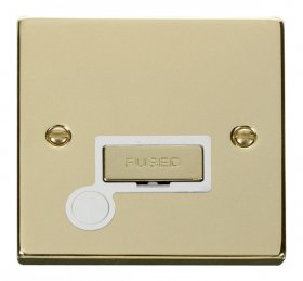 Click Deco Polished Brass Unswitched Fused Spur + F/O VPBR550WH