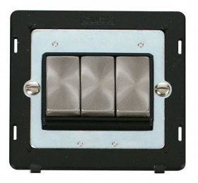 Click Definity 3 Gang 2 Way Switch Insert SIN413BKBS