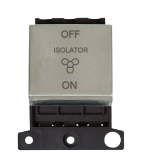 Click MiniGrid MD020SS S/Steel 3 Pole Fan Isolator Switch Module