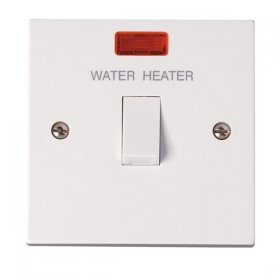 Click Polar 20A Double Pole Water Heater Switch with Neon PRW042