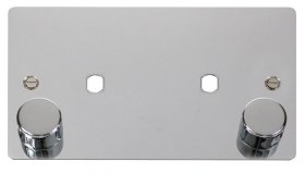Click Define Polished Chrome Twin Dimmer Plate 1630W Max FPCH186