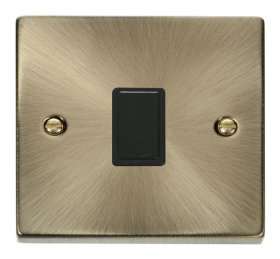 Click Deco Antique Brass 20A Double Pole Switch VPAB622BK