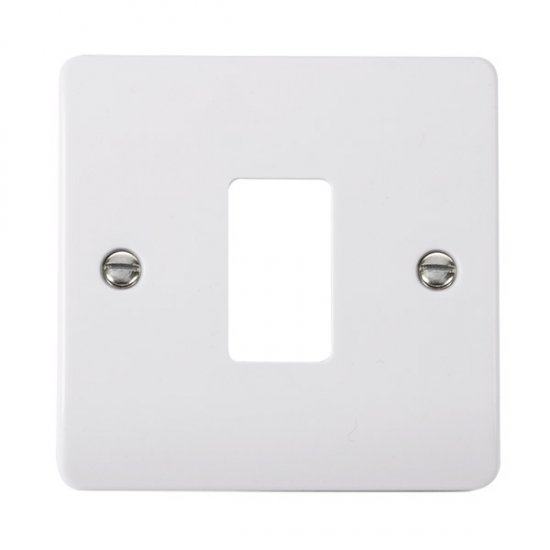 Click Mode White 1 Gang Grid Pro Front Plate CMA20401
