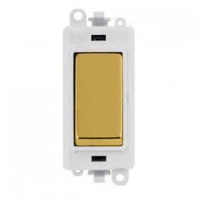 Click Grid Pro GM2018PWBR Double Pole Switch Mod White Pol/Brass