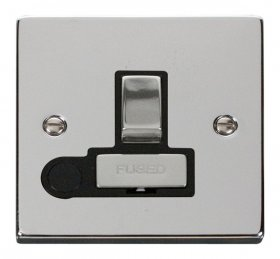 Click Deco Polished Chrome Switched Fused Spur + F/O VPCH551BK