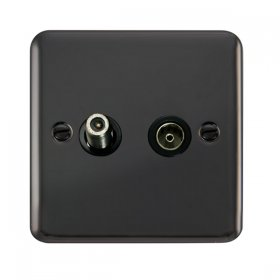 Click Deco Plus Non-Isolated Coaxial Outlet DPBN170BK