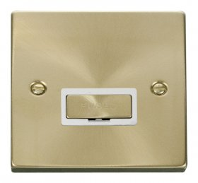 Click Deco Satin Brass Unswitched Fused Spur VPSB750WH