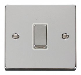 Click Deco Polished Chrome 1 Gang 2 Way Switch VPCH411WH