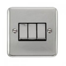 Click Deco Plus 3 Gang 2 Way Ingot Switch DPCH413BK