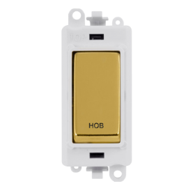 Click Grid Pro GM2018PWBR-HB DP Switch Module Wh Pol/Brass Hob
