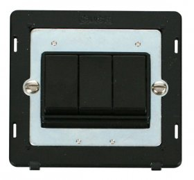 Click Definity 3 Gang 2 Way Switch Insert SIN013BK