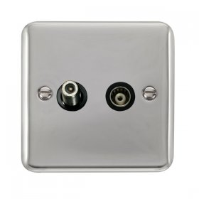 Click Deco Plus Satellite and Coaxial Socket DPCH157BK