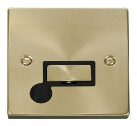 Click Deco Satin Brass Unswitched Fused Spur + F/O VPSB550BK