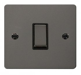 Click Define Black Nickel 1 Gang 2 Way Switch FPBN411BK