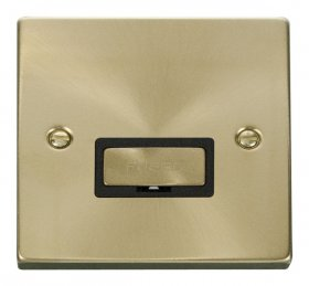 Click Deco Satin Brass Unswitched Fused Spur VPSB750BK