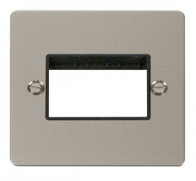 Click Define Pearl Nickel Single Plate 3 Gang Aperture FPPN403BK