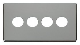 Click Definity 4 Gang Toggle Switch Cover Plate SCP224CH
