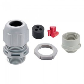 Wiska TKE/P40/RD IP68 Plastic Tails Kit with Insert and Locknut