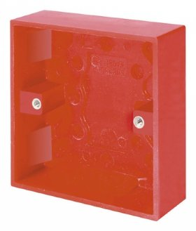 Click Red 1 Gang 25mm Surface Pattress Box WA081RD