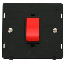 Click Definity 45A DP Switch Single Plate Insert SIN200BK