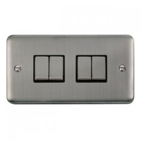 Click Deco Plus 4 Gang 2 Way Ingot Switch DPSS414BK