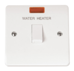 Click Mode 20A Double Pole Switch Water Heater with Neon CMA042