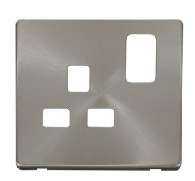 Click Definity 13A 1 Gang Switched Socket Cover Plate SCP435BS