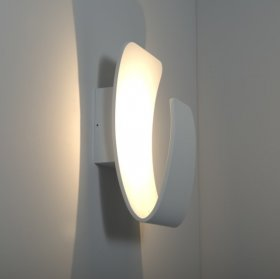 KSR Scoop 13W Colour Toning LED Wall Light White KSR7267WH