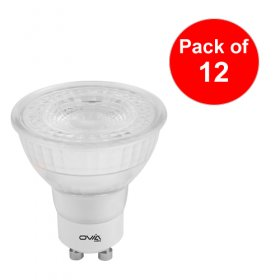 Ovia GU10 LED Glass Cool White Non Dimmable 4.8W OVLA1006C4/12
