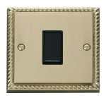 Click Deco Georgian Brass 1 Gang 2 Way Switch GCBR011BK