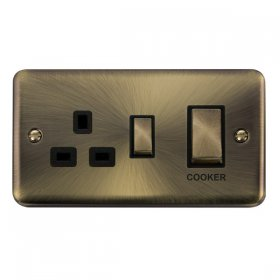 Click Deco Plus 45A DP Switch with 13A Outlet DPAB504BK
