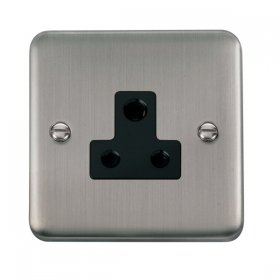 Click Deco Plus 5A Round Pin Socket DPSS038BK