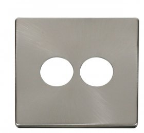 Click Definity 2 Gang Toggle Switch Cover Plate SCP222BS