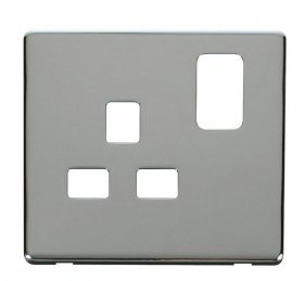 Click Definity 13A 1 Gang Switched Socket Cover Plate SCP435CH