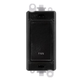 Click Grid Pro GM2018BK-FN Double Pole Switch Module Black Fan